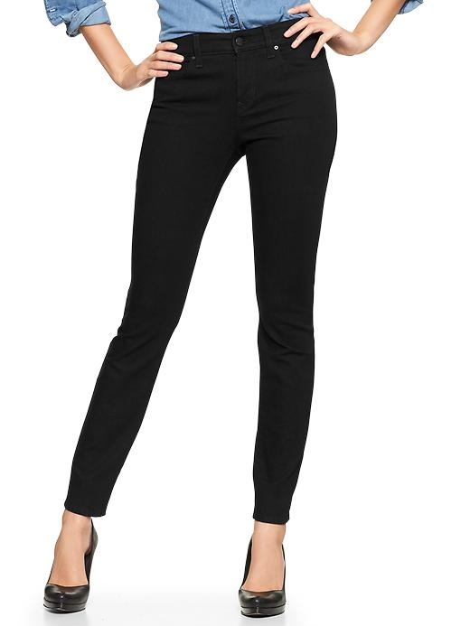 Gap 1969 Curvy Skinny Black Jeans - true black