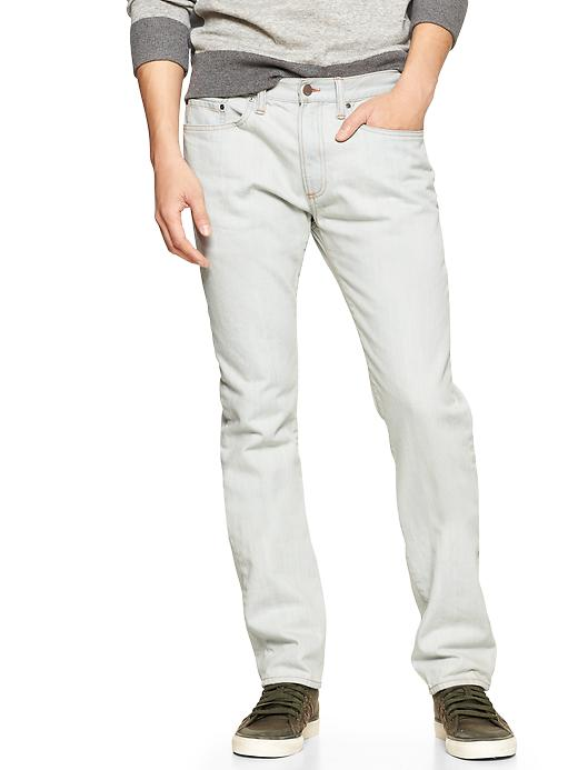 Gap 1969 Slim Fit Jeans Bleach Blue Wash - bleach blue