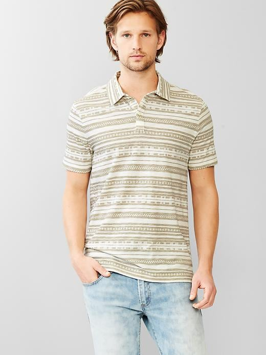 Gap Mens Lived-In Southwest Stripe Polo
