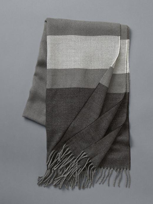 Gap Blanket Stripe Scarf Size One Size - True black