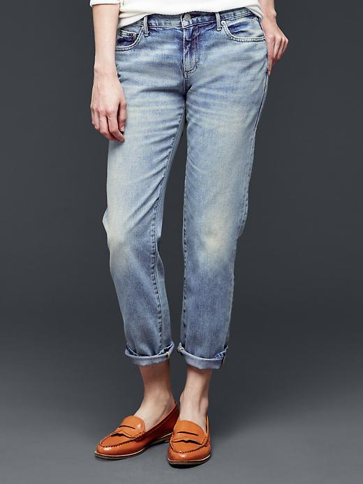 Gap Women 1969 Sexy Boyfriend Jeans Size 30 Tall - Blue river