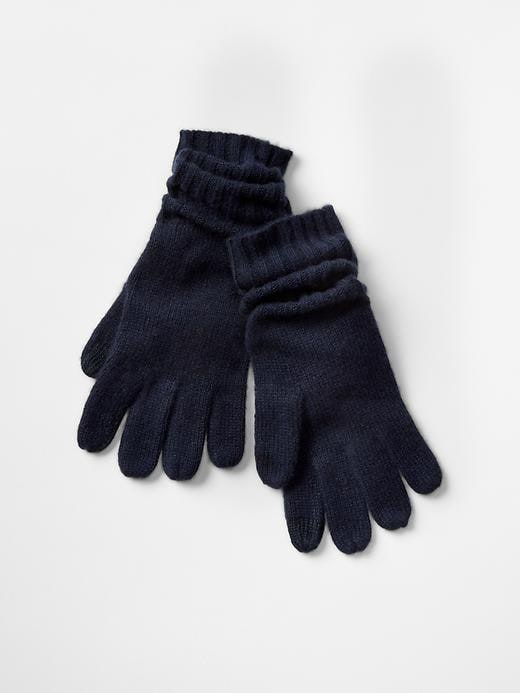 Gap Cashmere Tech Gloves Size One Size - True indigo