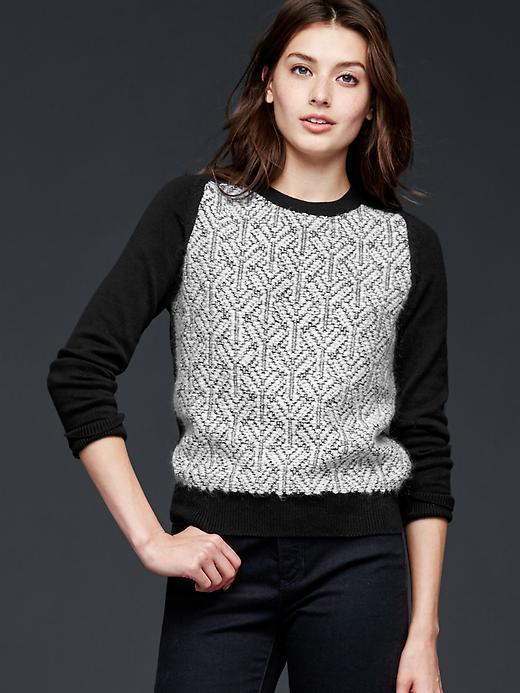 Gap Jacquard Pullover Sweater Size XS - Black & white