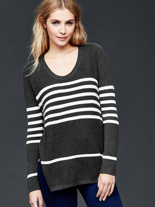 Gap Brooklyn Stitch Stripe Pullover Sweater Size S Petite - True black