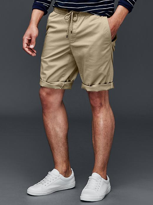 Gap Lived In Twill Jogger Shorts 10