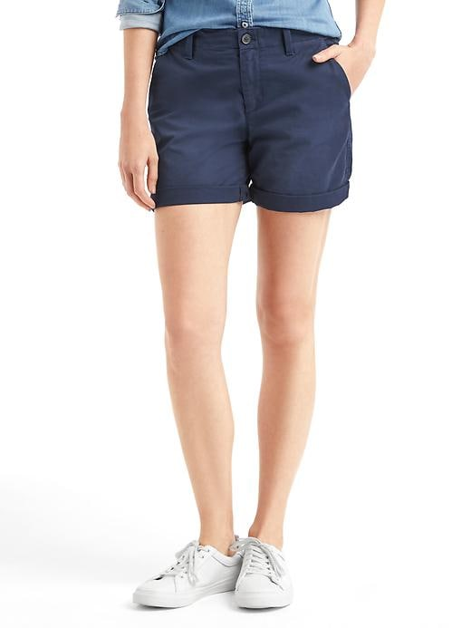 Gap Women Girlfriend Chino Shorts Size 8 Tall - True indigo