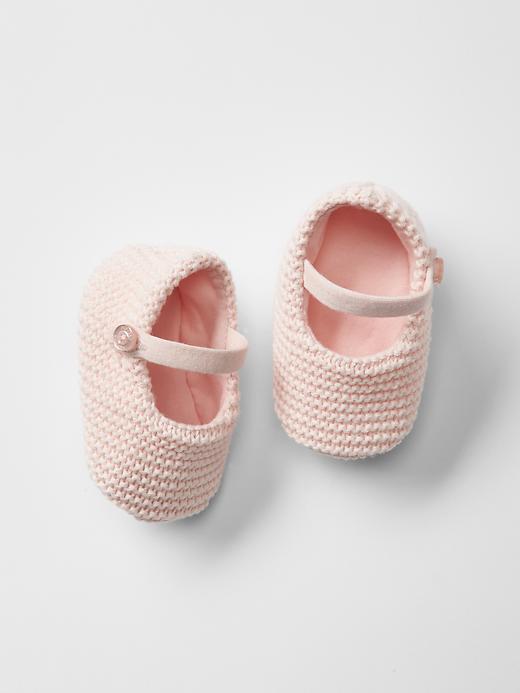 Gap Knit Mary Janes Size 6-12 M - Milkshake pink