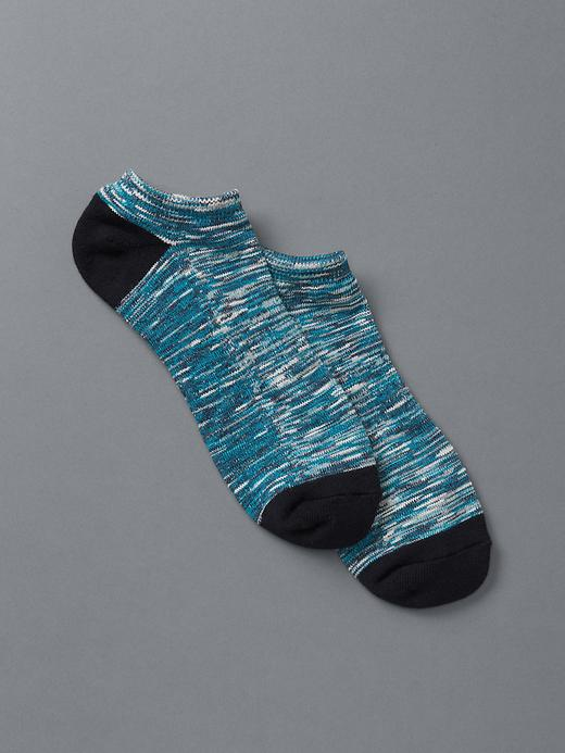 Gap Men Slub Ankle Socks Size 10-13 - Blue heather