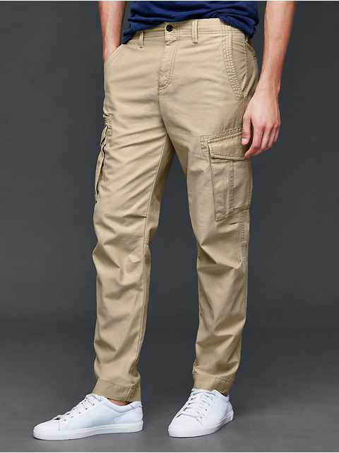 Cargo slim fit pants
