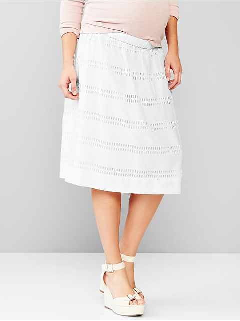 Maternity eyelet full skirt
