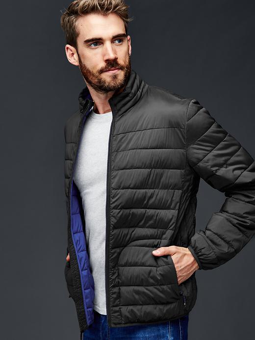 Gap Men Coldcontrol Lite Stretch Puffer Jacket Size L - True black