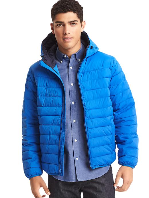 Gap ColdControl Lite Stretch Hooded Puffer Men's Jacket (Blue Streak or Shadow)