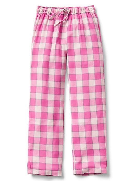Gap Girls Plaid Flannel PJ Pants Size 10 - Pink cameo