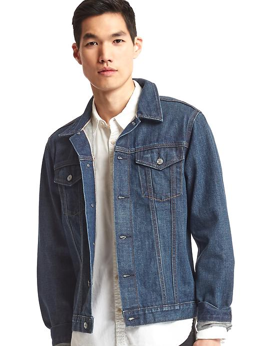 Gap Mens 1969 Icon Selvedge Denim Jacket (Authentic Medium)