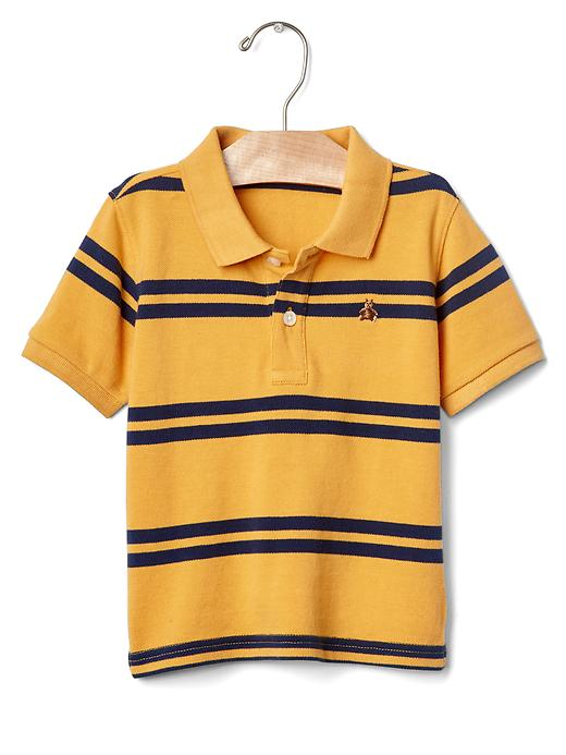 Gap Stripe Pique Polo Size 12-18 M - Starlight gold