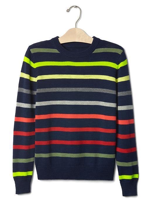 Gap Multi Stripe Crew Sweater Size M - Elysian blue