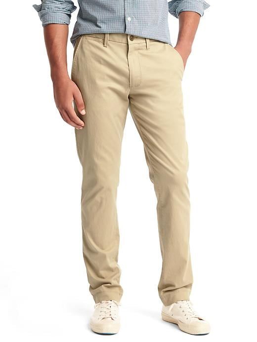 Gap Mens Classic Stretch Slim Fit Khakis (Pinot Noir or Chino Academy)