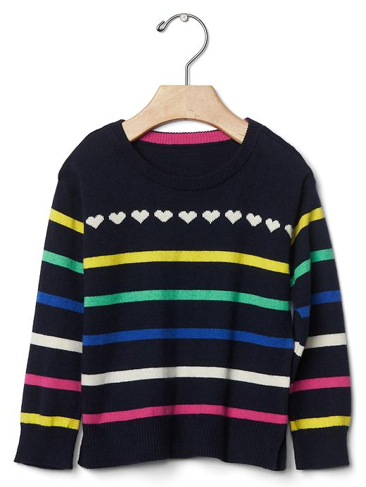Gap Rainbow Stripe Sweater Size 12-18 M - Blue galaxy
