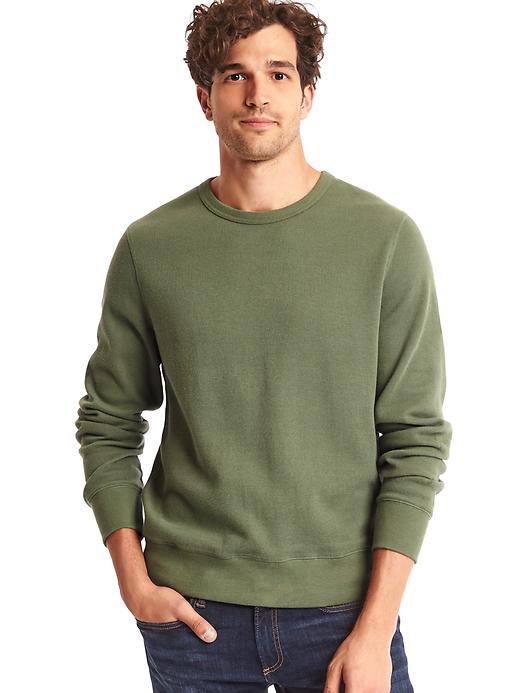 Gap Men Ribbed Longsleeve Tee Size S - Monterey cypress
