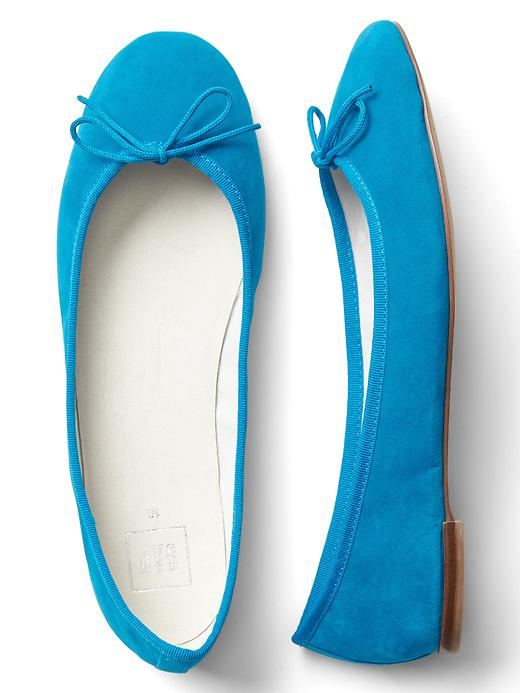 Gap Womens Velvet Cinch Ballet Flats (Turquoise or Citron)