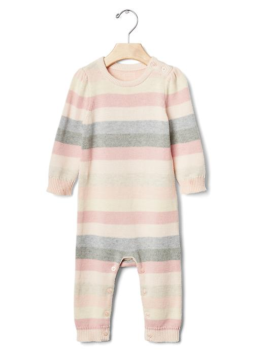 Gap Bright Stripe Sweater One Piece Size 0-3 M - Pink stripe