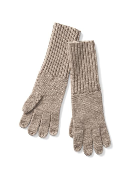 Gap Women Cashmere Tech Gloves Size One Size - Oatmeal heather