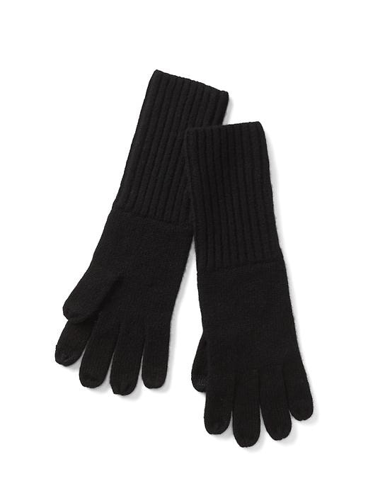 Gap Women Cashmere Tech Gloves Size One Size - Black