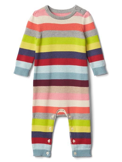 Gap Bright Stripe Sweater One Piece Size 3-6 M - Multi stripe