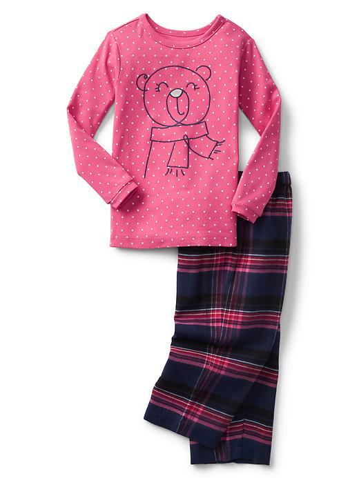 Gap Babygap + Pendleton Flannel PJ Set Size 12-18 M - Bear