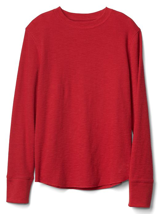 Gap Waffle Knit Crew Tee Size L - Modern red