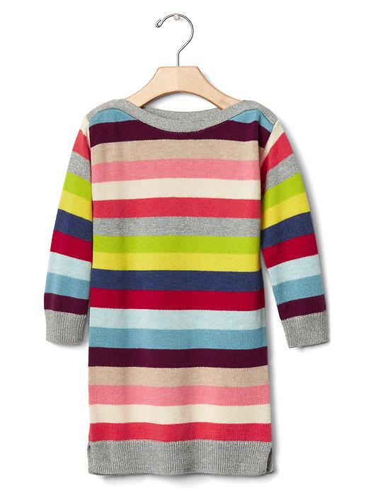 Gap Bright Stripes Sweater Dress Size 12-18 M - Crazy stripe