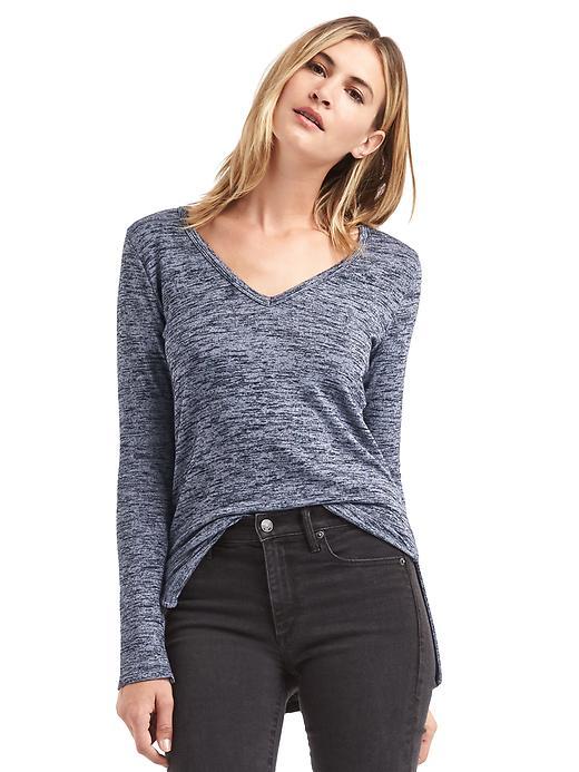 Gap Women Softspun Knit Slit Tunic Size M Tall - Dark night