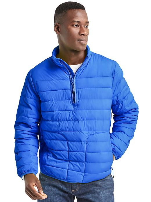 Gap Mens Cold Control Lite Stretch Puffer Pullover (Multi Colors)