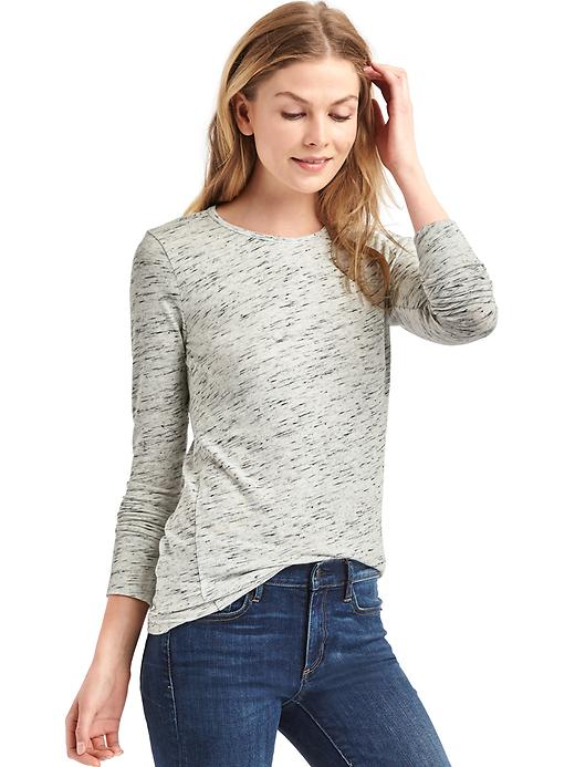 Gap Womens Long-Sleeve Crewneck Feather T-Shirt (Multi Colors)