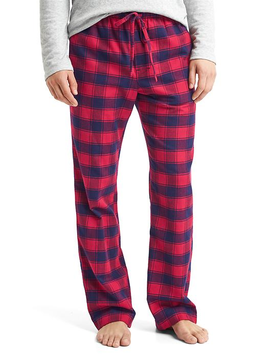 Gap Men Flannel Plaid PJ Pants Size L - Red plaid
