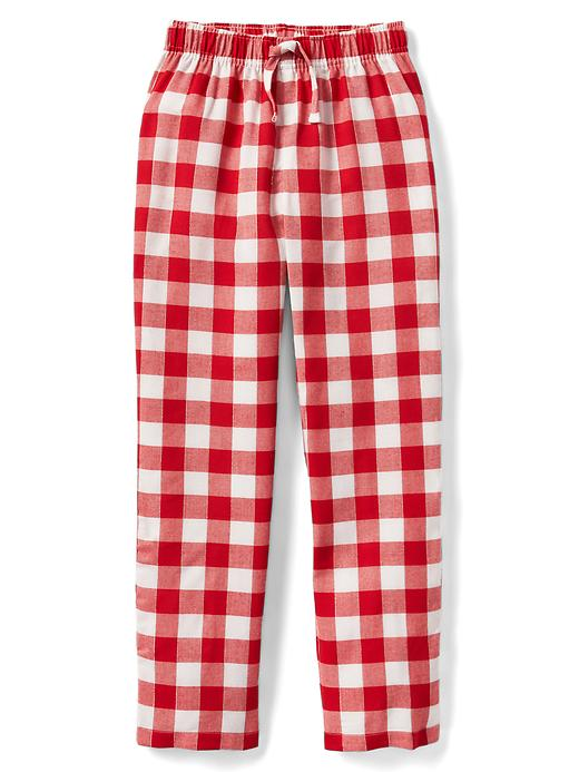 Gap Girls Plaid Flannel PJ Pants Size 10 - Pure red