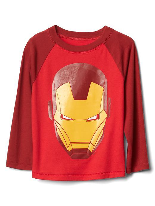 Gap Mad Engine Iron Man Baseball Tee Size 12-18 M - Red