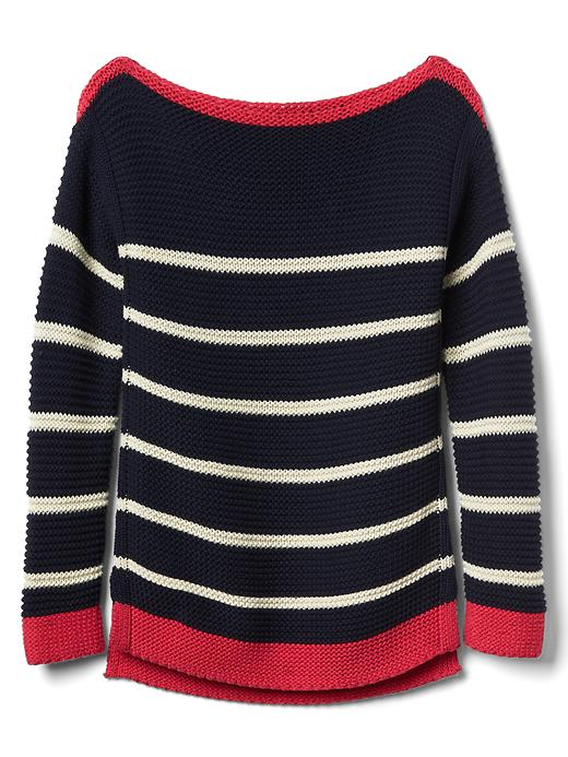 Gap Girls Stripe Boatneck Sweater Size L - Blue galaxy