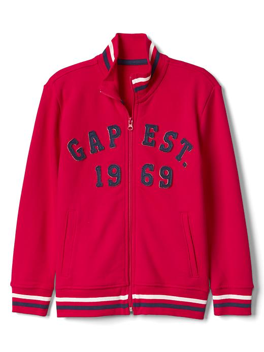Gap Boys Logo Mockneck Jacket Size L - Pure red