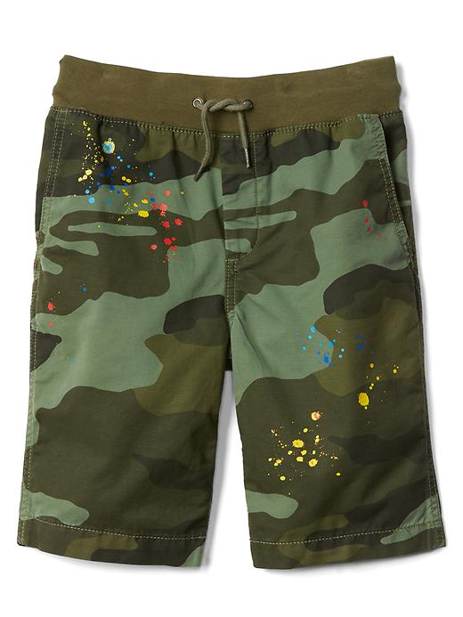 Gap Boys Pull-On Twill Shorts Green Camo Size XL