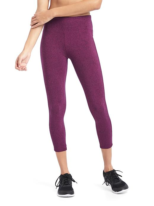 Gap Women Gapfit Gfast Performance Cotton Capris Size XS - Plum heather