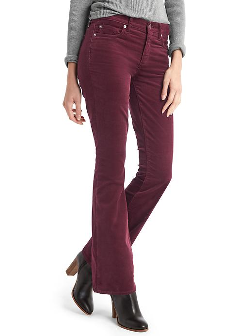 Gap Women Stretch Corduroy Baby Boot Pants Size 28 Long - Tuscan red