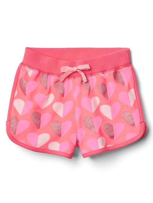 Gap Baby Terry Dolphin Shorts Hearts Size 12-18 M