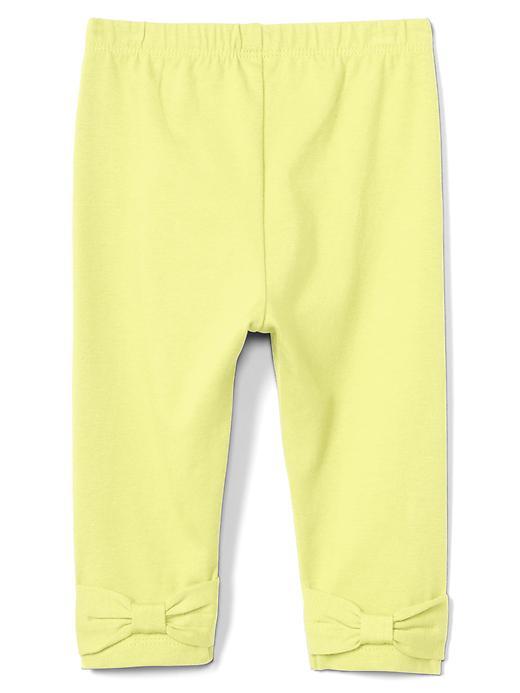 Gap Bow Back Leggings Size 0-3 M - Fresh yellow
