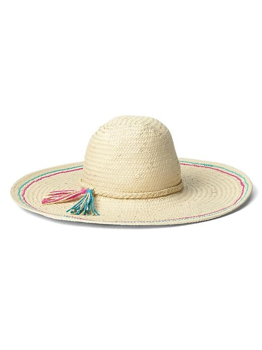 Gap Women Braided Band Floppy Hat Size M/L - Natural
