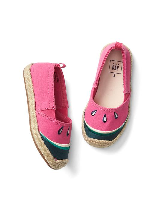 Gap Slip On Espadrilles Size 5 - Watermelon