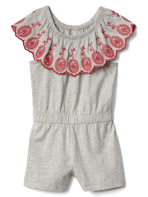 Gap Ruffle Sleeve Romper Size 5 YRS - Heather gray