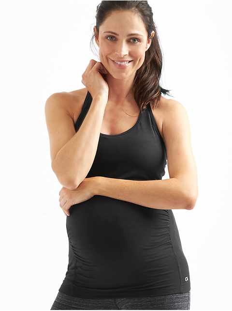 Maternity Breathe Strappy Shelf Tank