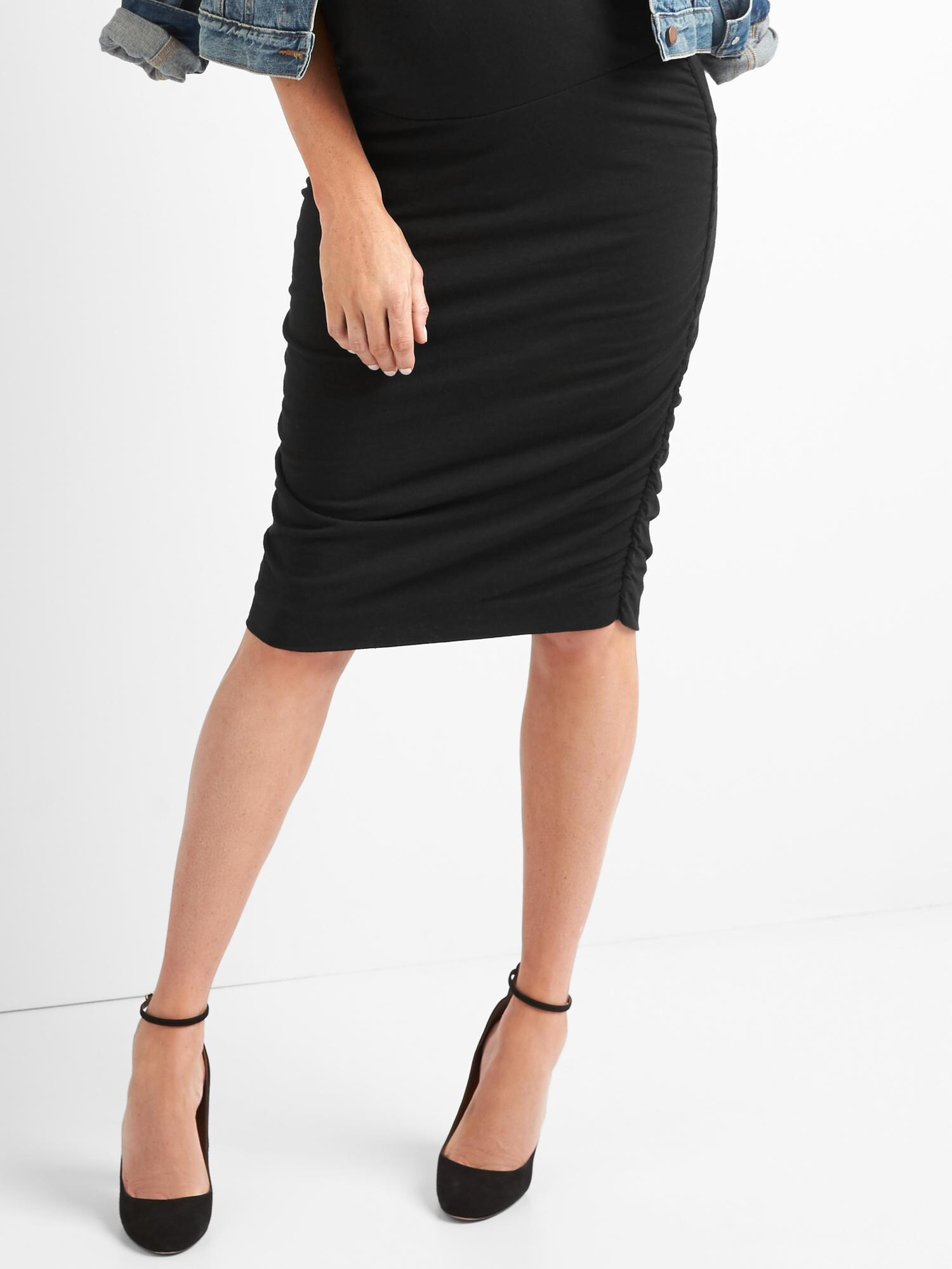 Maternity Full Panel Ruched Pencil Skirt  f4d4c9955