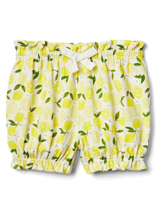 Gap Print Bubble Shorts Size 0-3 M - Lemon print